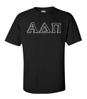 Hand Drawn Greek Lettered Tee