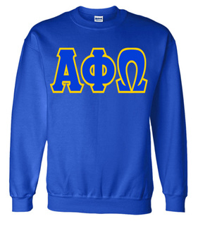 Jumbo Twill Alpha Phi Omega Crewneck Sweatshirt