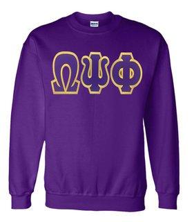 Jumbo Twill Omega Psi Phi Crewneck Sweatshirt