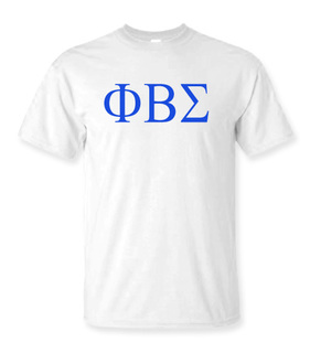 Phi Beta Sigma Lettered Tee - $9.95!