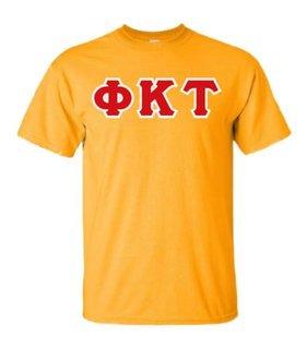 Phi Kappa Tau Sewn Lettered T-Shirt