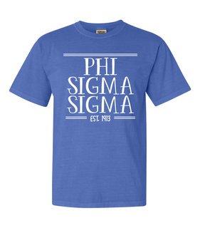 Phi Sigma Sigma Comfort Colors Custom Heavyweight T-Shirt