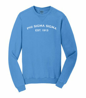 Phi Sigma Sigma Pigment Dyed Crewneck Sweatshirt