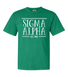 Sigma Alpha Comfort Colors Custom Heavyweight T-Shirt
