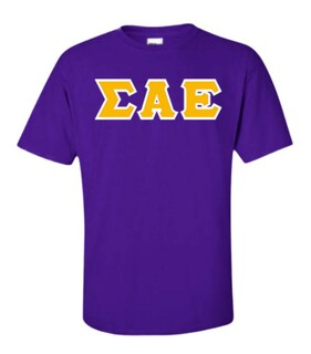 Sigma Alpha Epsilon Sewn Lettered T-Shirt