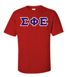 Sigma Phi Epsilon Lettered T-Shirt