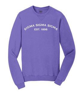 Sigma Sigma Sigma Pigment Dyed Crewneck Sweatshirt