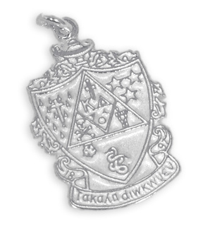 Sorority Crest - Shield Silver Charm