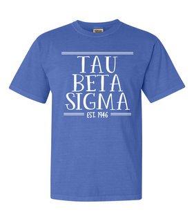 Tau Beta Sigma Comfort Colors Custom Heavyweight T-Shirt