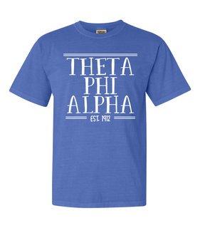Theta Phi Alpha Comfort Colors Established Heavyweight T-Shirt