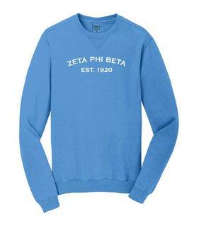 Zeta Phi Beta Pigment Dyed Crewneck Sweatshirt