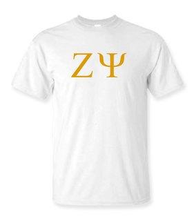 Zeta Psi Lettered Tee - $9.95!
