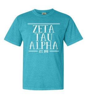 Zeta Tau Alpha Comfort Colors Custom Heavyweight T-Shirt