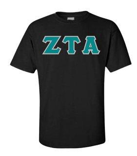 Zeta Tau Alpha Lettered Shirts