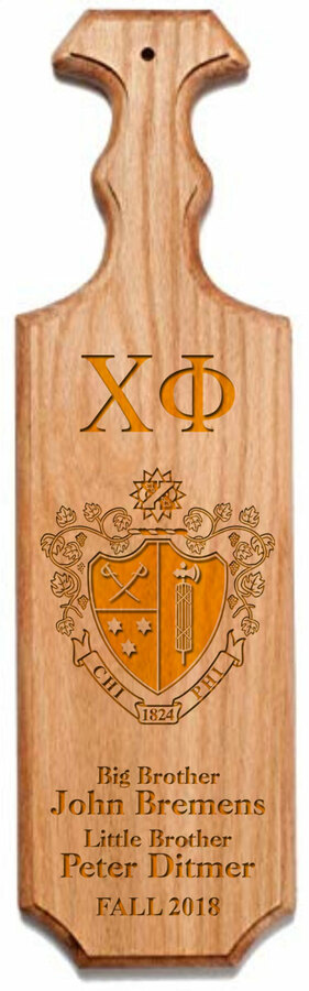 Chi Phi Traditional Greek Paddle