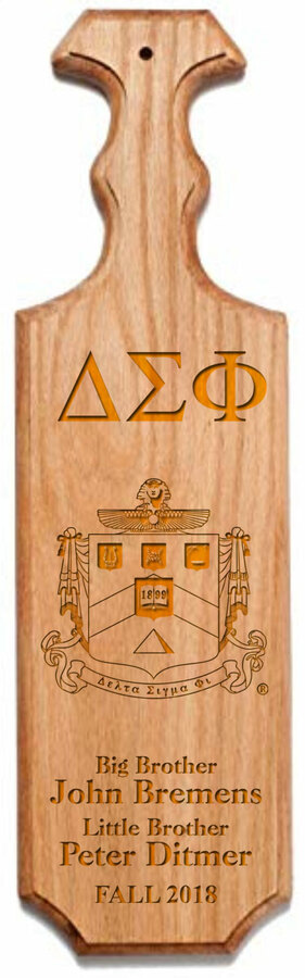Delta Sigma Phi Traditional Greek Paddle