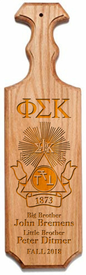 Phi Sigma Kappa Traditional Greek Paddle