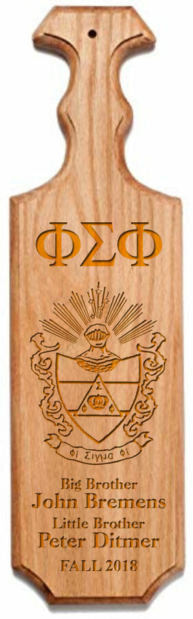 Phi Sigma Phi Traditional Greek Paddle