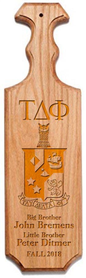 Tau Delta Phi Traditional Greek Paddle