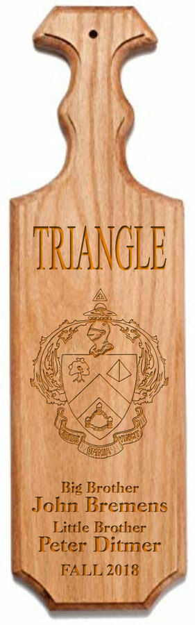 Triangle Traditional Greek Paddle
