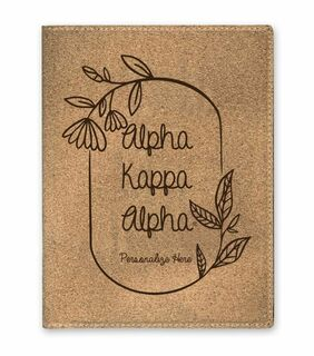 Alpha Kappa Alpha Cork Portfolio with Notepad