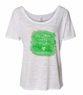 Alpha Kappa Alpha Slouchy Watercolor Motto T-shirt