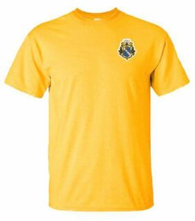 DISCOUNT-Alpha Phi Omega Crest - Shield Patch T-Shirt