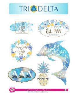 Delta Delta Delta Water Color Stickers