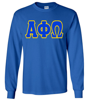 Jumbo Twill Alpha Phi Omega Long Sleeve Tee