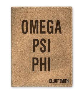 Omega Psi Phi Cork Portfolio with Notepad