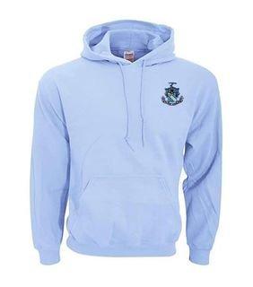 DISCOUNT-Phi Delta Theta Crest - Shield Emblem Hooded Sweatshirt