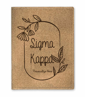 Sigma Kappa Cork Portfolio with Notepad