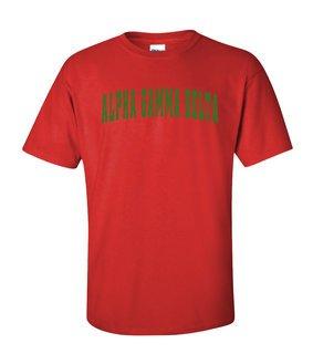Alpha Gamma Delta Letterman T-Shirts