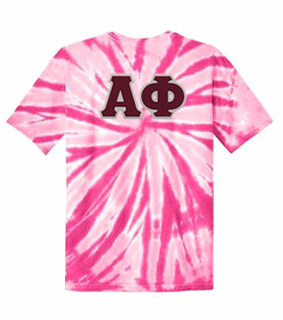 DISCOUNT-Alpha Phi Lettered Tie-Dye t-shirts for only $30!