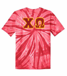 DISCOUNT-Chi Omega Lettered Tie-Dye t-shirts for only $30!