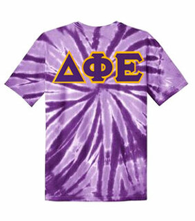 DISCOUNT-Delta Phi Epsilon Lettered Tie-Dye t-shirts for only $30!