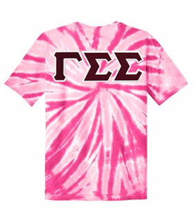 DISCOUNT-Gamma Sigma Sigma Lettered Tie-Dye t-shirts for only $30!