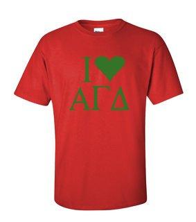 I Love Alpha Gamma Delta T-Shirts