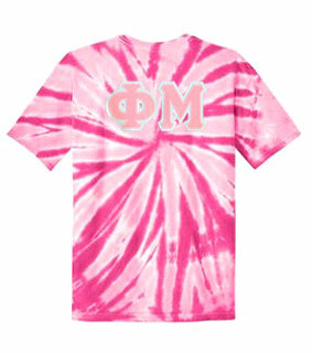 DISCOUNT-Phi Mu Lettered Tie-Dye t-shirts for only $30!