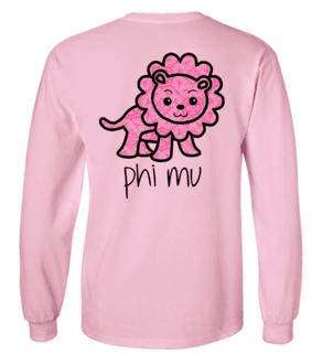 Phi Mu Little Lion Longsleeve Tee