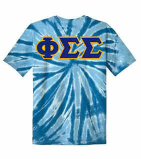 DISCOUNT-Phi Sigma Sigma Lettered Tie-Dye t-shirts for only $30!