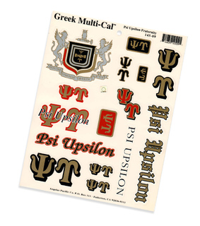 Psi Upsilon Multi Decal Sheet
