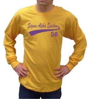 Sigma Alpha Epsilon Tail Long Sleeve Shirts