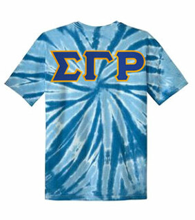 DISCOUNT-Sigma Gamma Rho Lettered Tie-Dye t-shirts for only $25!