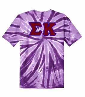 DISCOUNT-Sigma Kappa Lettered Tie-Dye t-shirts for only $30!