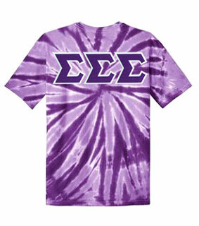 DISCOUNT-Sigma Sigma Sigma Lettered Tie-Dye t-shirts for only $30!