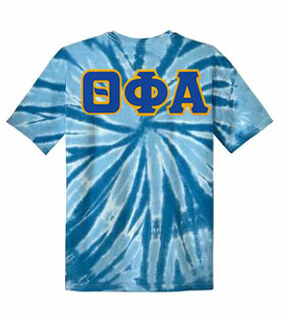 DISCOUNT-Theta Phi Alpha Lettered Tie-Dye t-shirts for only $25!