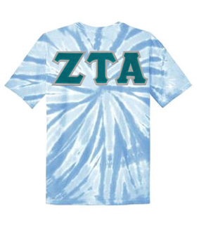 DISCOUNT-Zeta Tau Alpha Lettered Tie-Dye t-shirts for only $30!