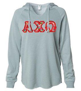 Alpha Chi Omega Lightweight California Wavewash Hooded Pullover Sweatshirt