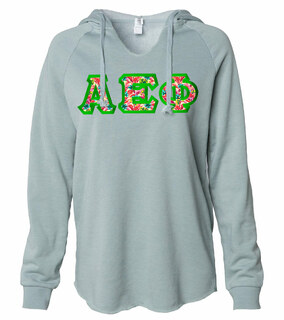 Alpha Epsilon Phi Lightweight California Wavewash Hooded Pullover Sweatshirt